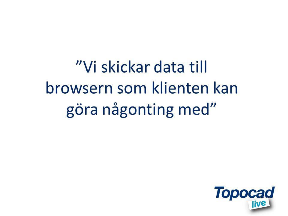 Vi skickar data till browsern som klienten kan göra någonting med