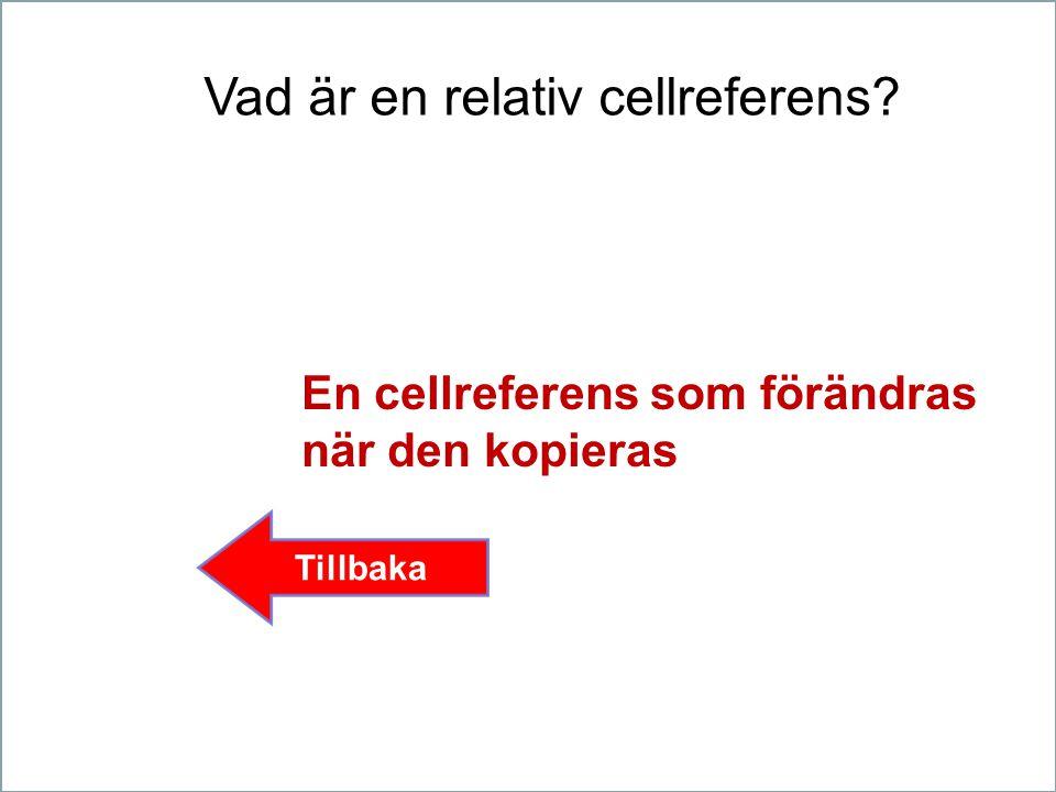 Vad är en relativ cellreferens