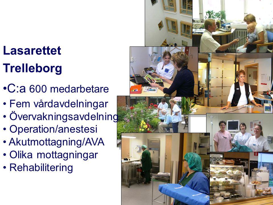 Lasarettet Trelleborg C:a 600 medarbetare