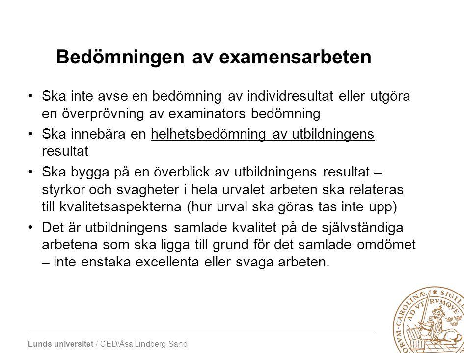 Bedömningen av examensarbeten
