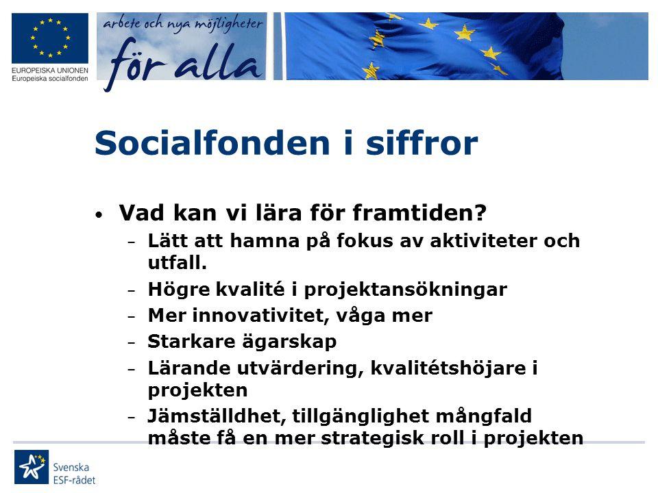 Socialfonden i siffror