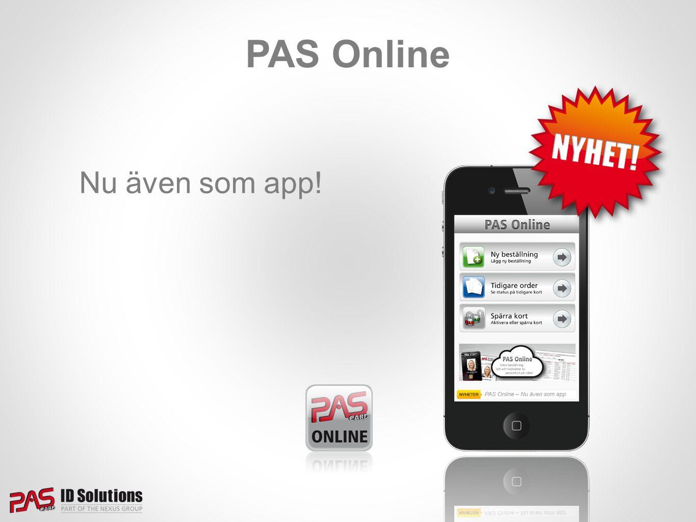PAS Online Nu även som app!