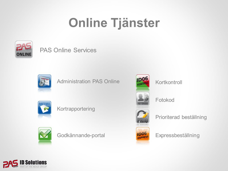 Online Tjänster PAS Online Services Administration PAS Online
