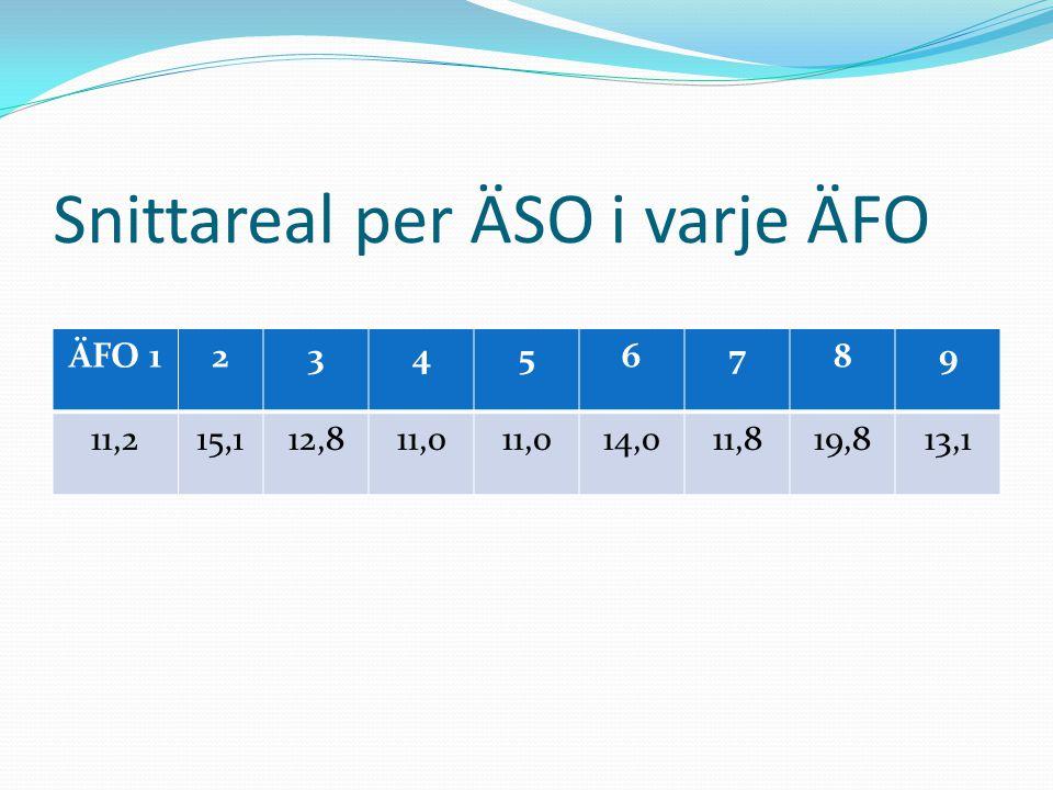 Snittareal per ÄSO i varje ÄFO