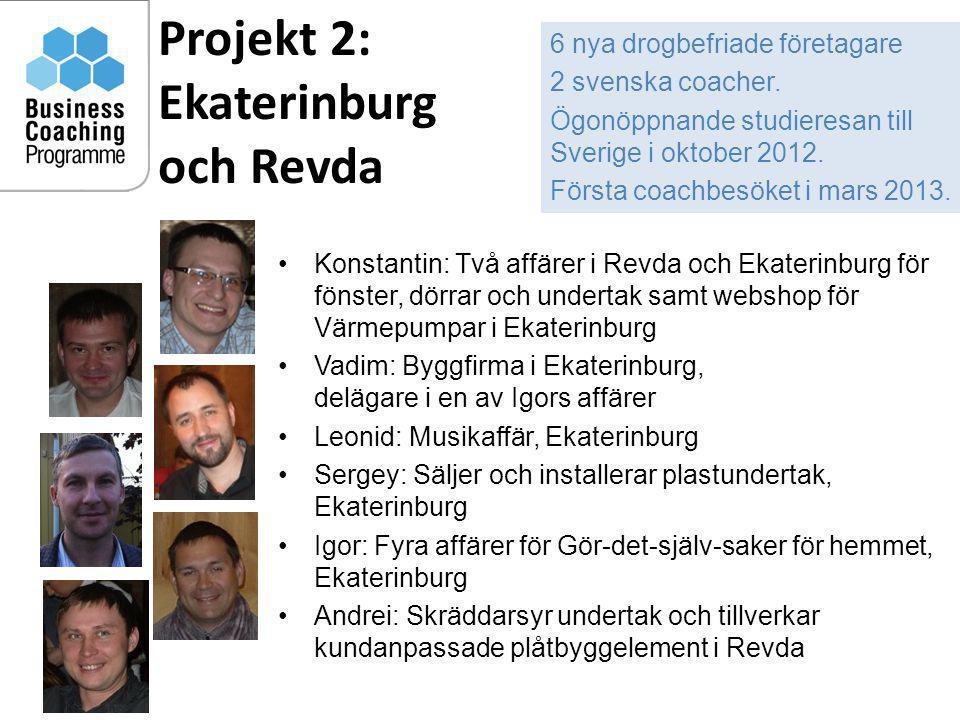 Projekt 2: Ekaterinburg och Revda