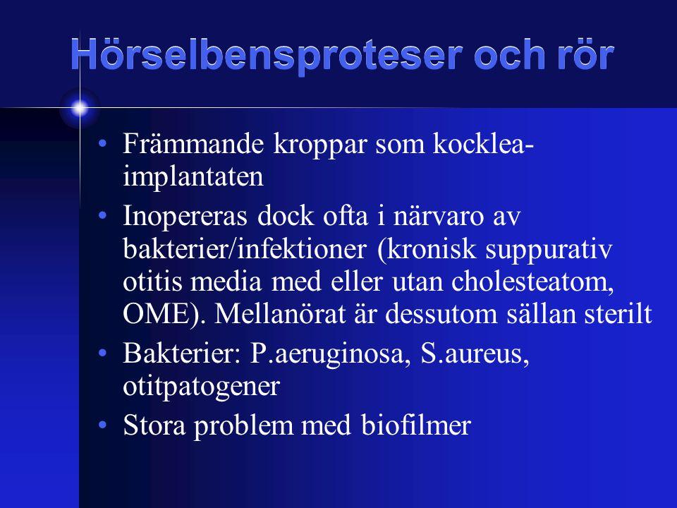 Hörselbensproteser och rör