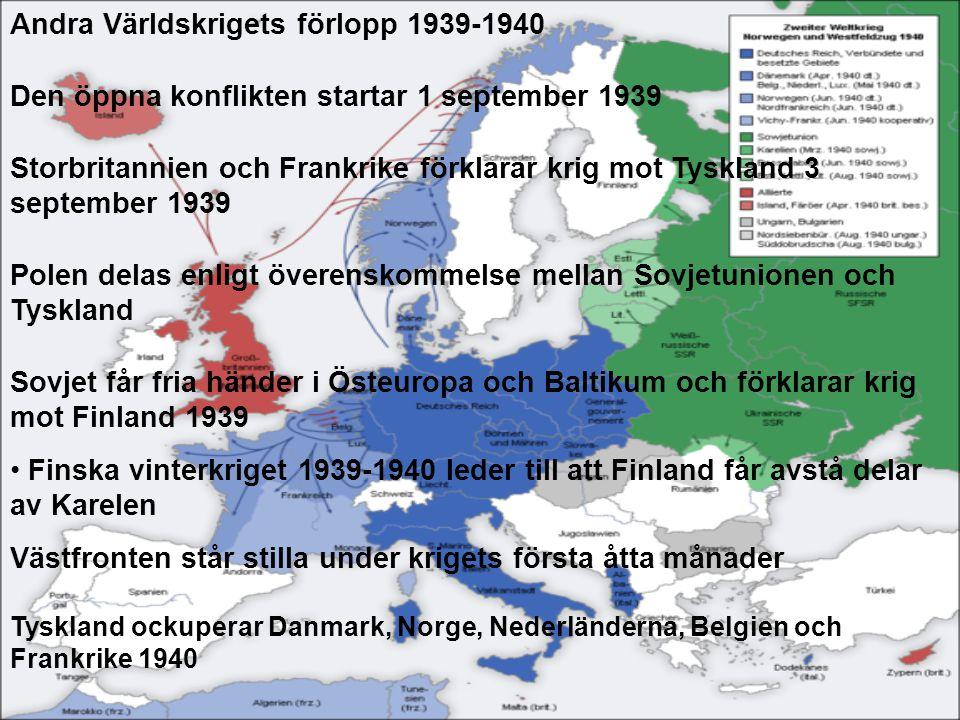 Andra Världskrigets förlopp 1939-1940