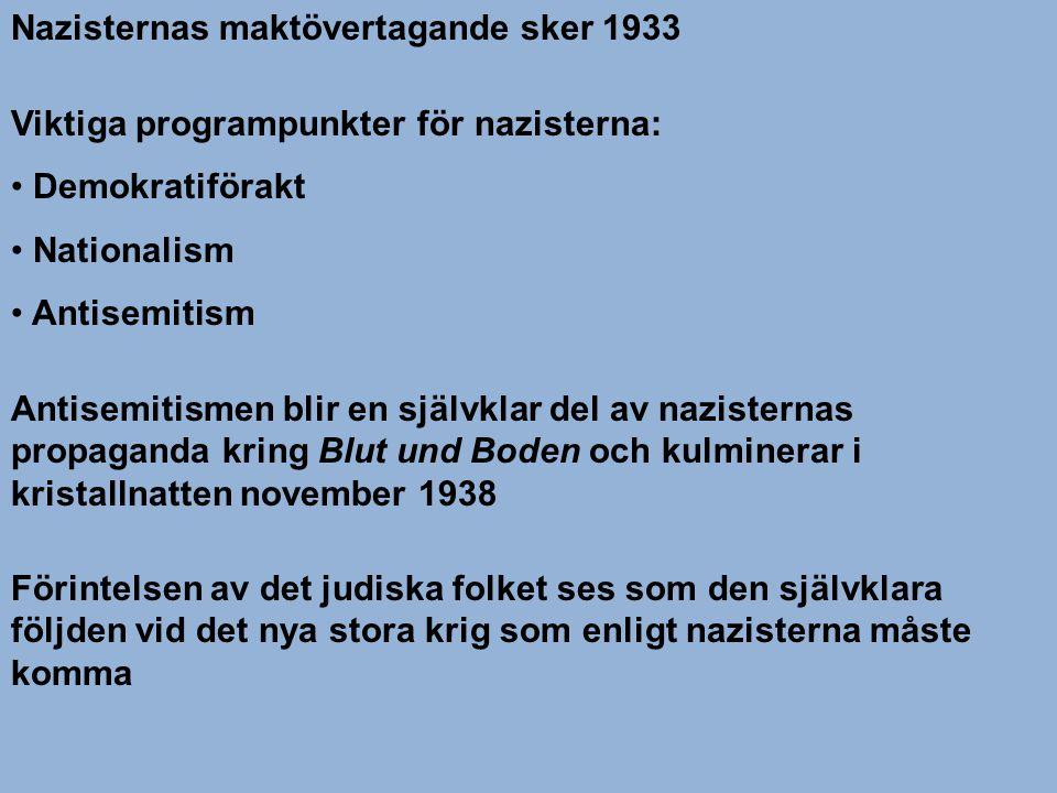 Nazisternas maktövertagande sker 1933