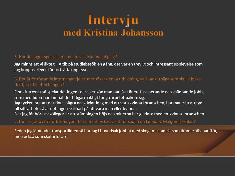 med Kristina Johansson