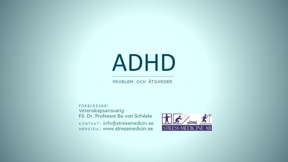 ADHD problem och åtgärder Vinjett: