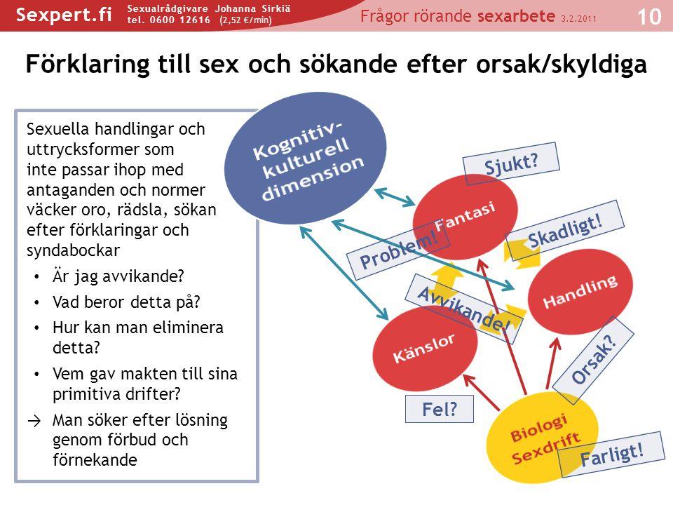 Förklaring till sex och sökande efter orsak/skyldiga