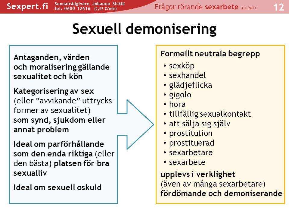 Sexuell demonisering Formellt neutrala begrepp