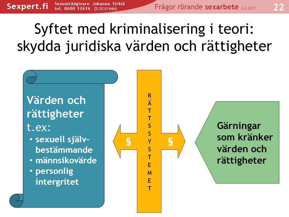 Syftet med kriminalisering i teori: skydda juridiska värden och rättigheter