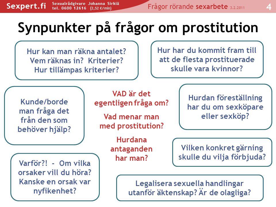 Synpunkter på frågor om prostitution