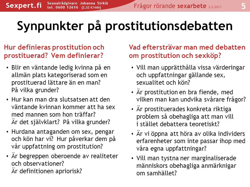 Synpunkter på prostitutionsdebatten