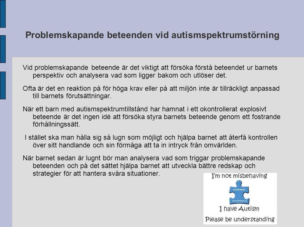 Problemskapande beteenden vid autismspektrumstörning