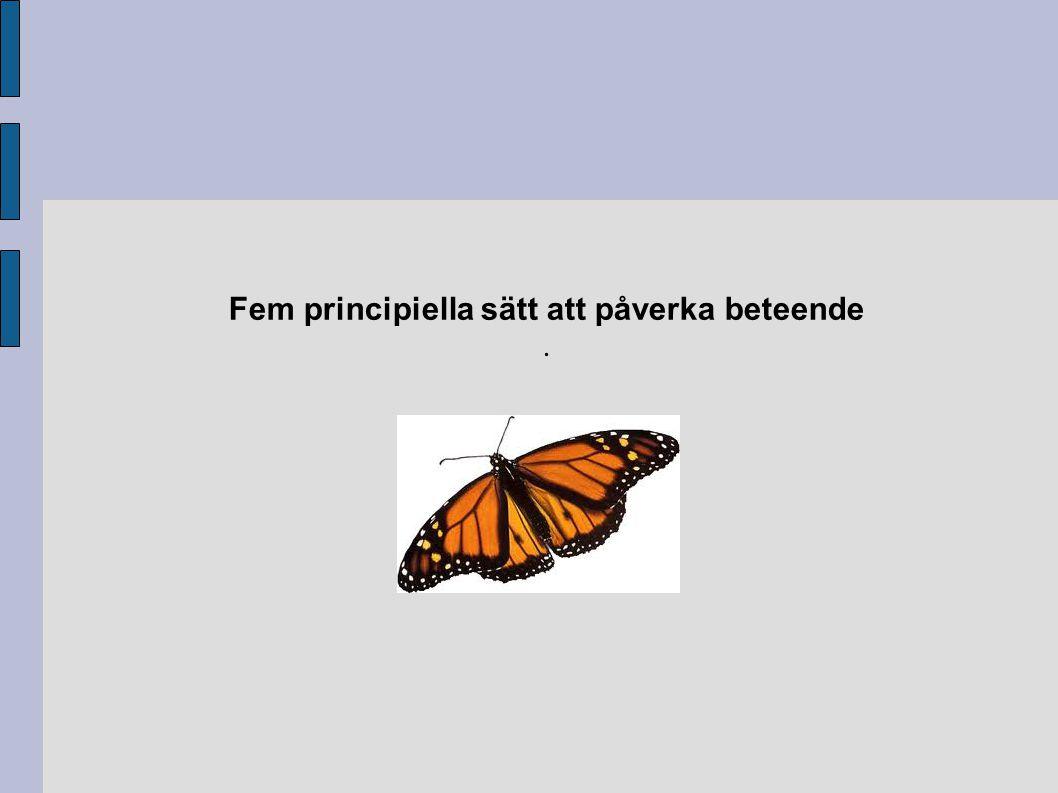 Fem principiella sätt att påverka beteende .