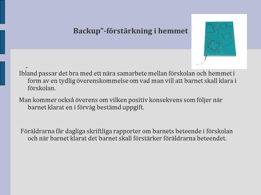 Backup -förstärkning i hemmet