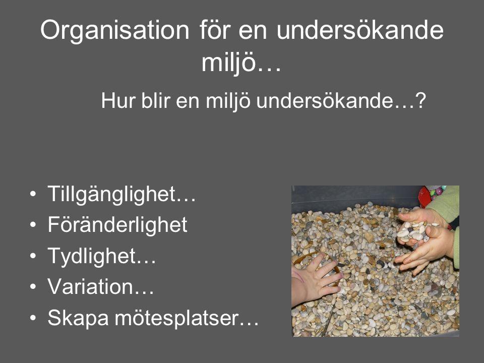 Organisation för en undersökande miljö…