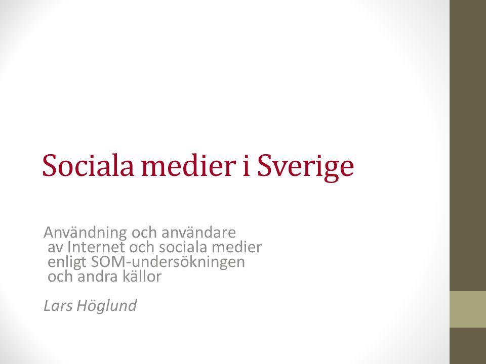 Sociala medier i Sverige