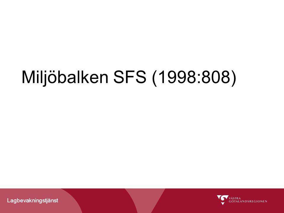 Miljöbalken SFS (1998:808)