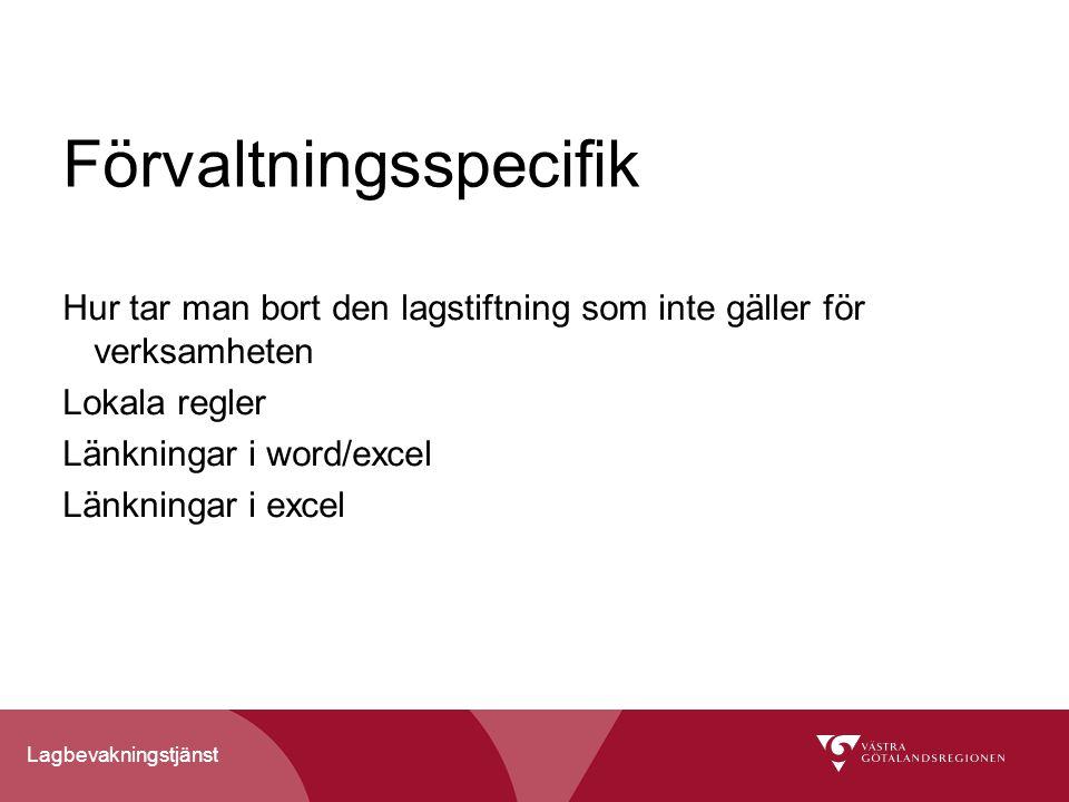 Förvaltningsspecifik