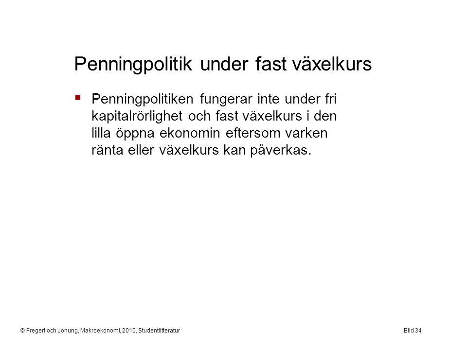 Penningpolitik under fast växelkurs