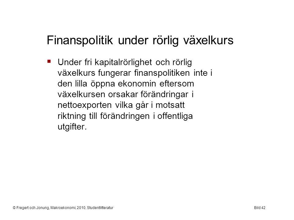 Finanspolitik under rörlig växelkurs