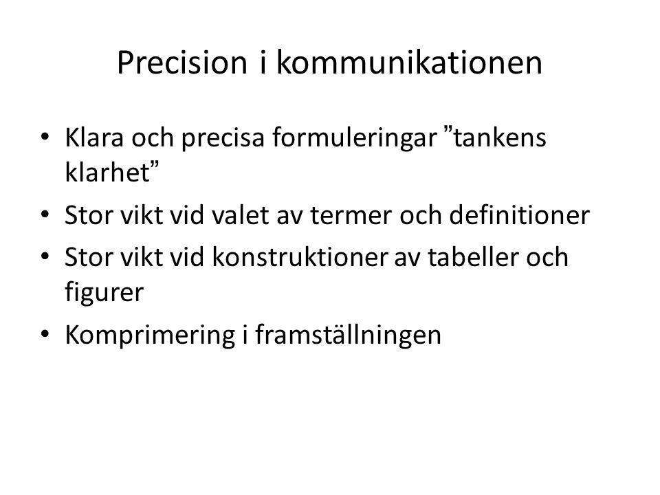 Precision i kommunikationen
