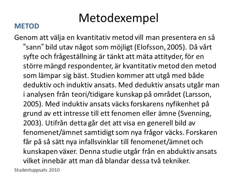 Metodexempel METOD.
