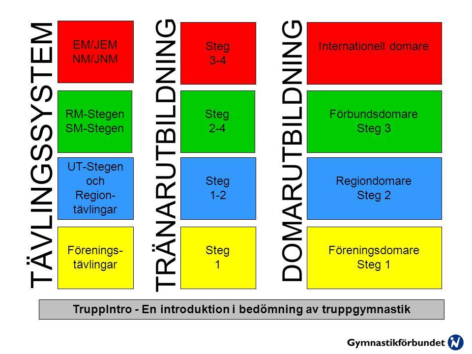 TruppIntro - En introduktion i bedömning av truppgymnastik