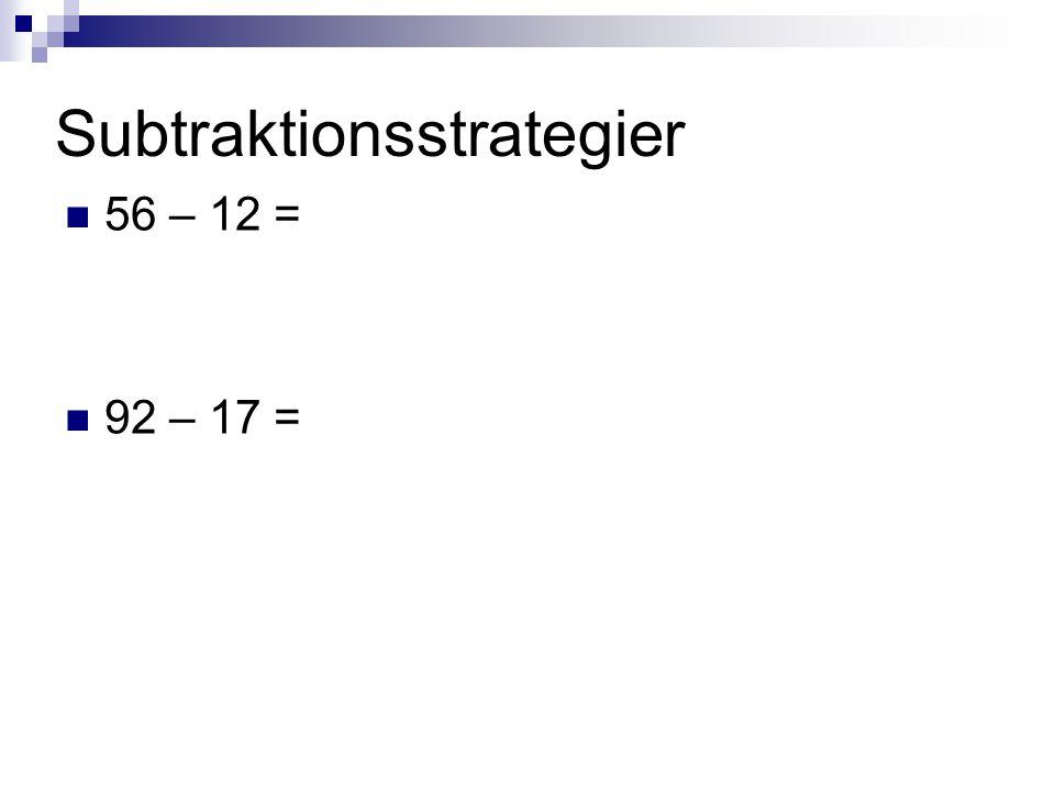 Subtraktionsstrategier