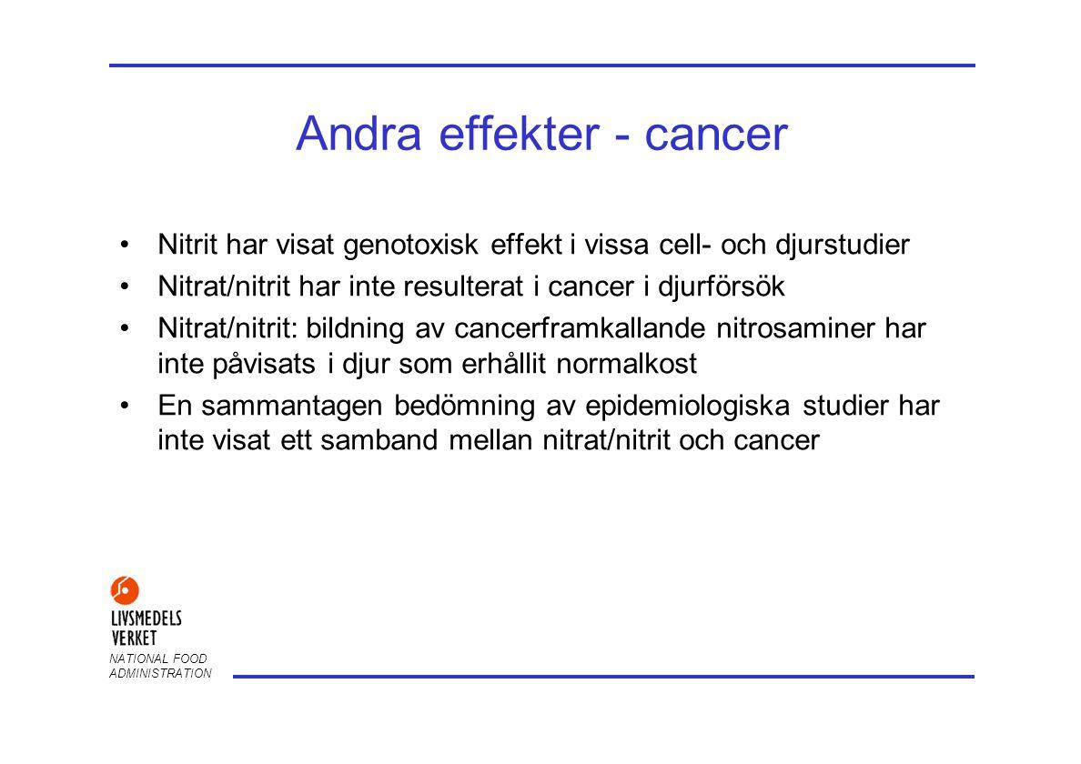 Andra effekter - cancer