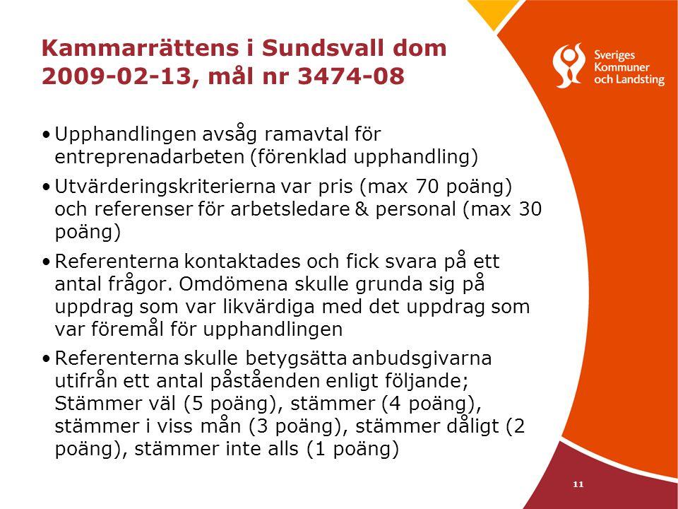 Kammarrättens i Sundsvall dom 2009-02-13, mål nr 3474-08