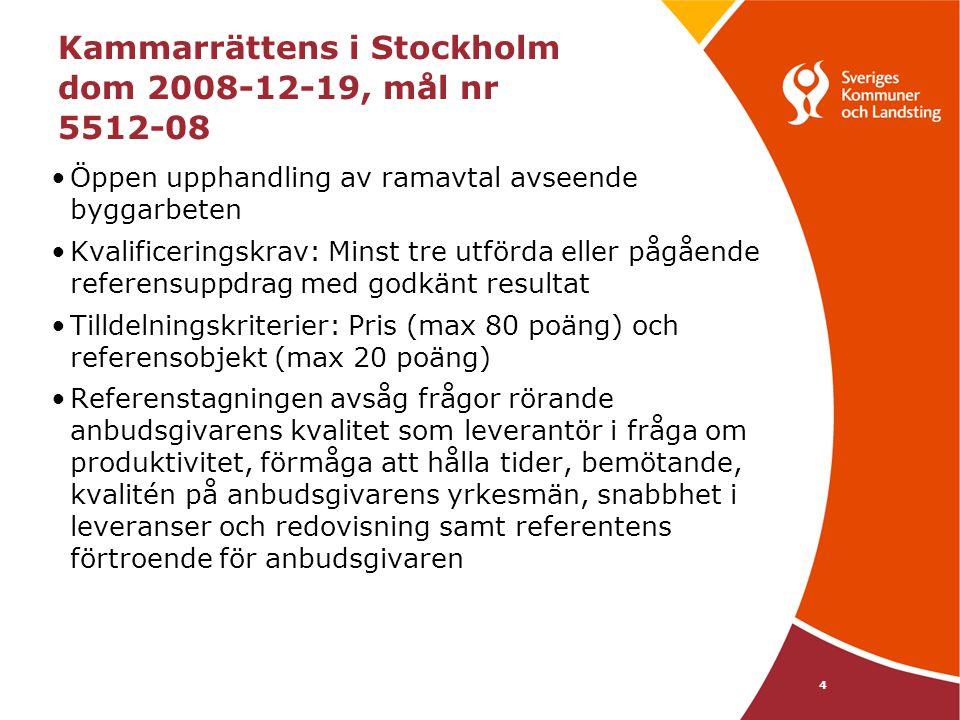 Kammarrättens i Stockholm dom 2008-12-19, mål nr 5512-08
