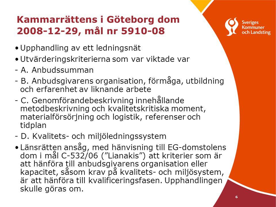 Kammarrättens i Göteborg dom 2008-12-29, mål nr 5910-08
