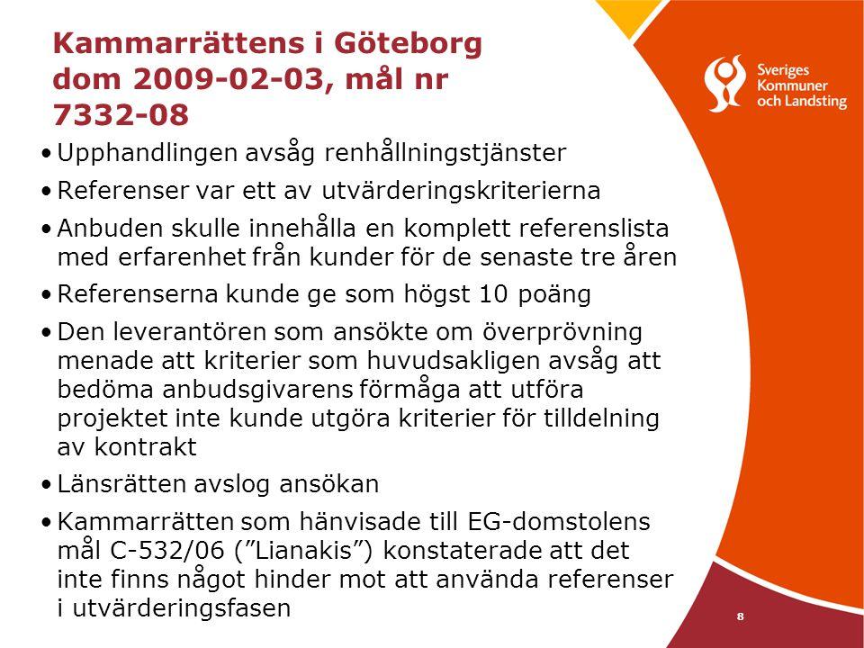 Kammarrättens i Göteborg dom 2009-02-03, mål nr 7332-08