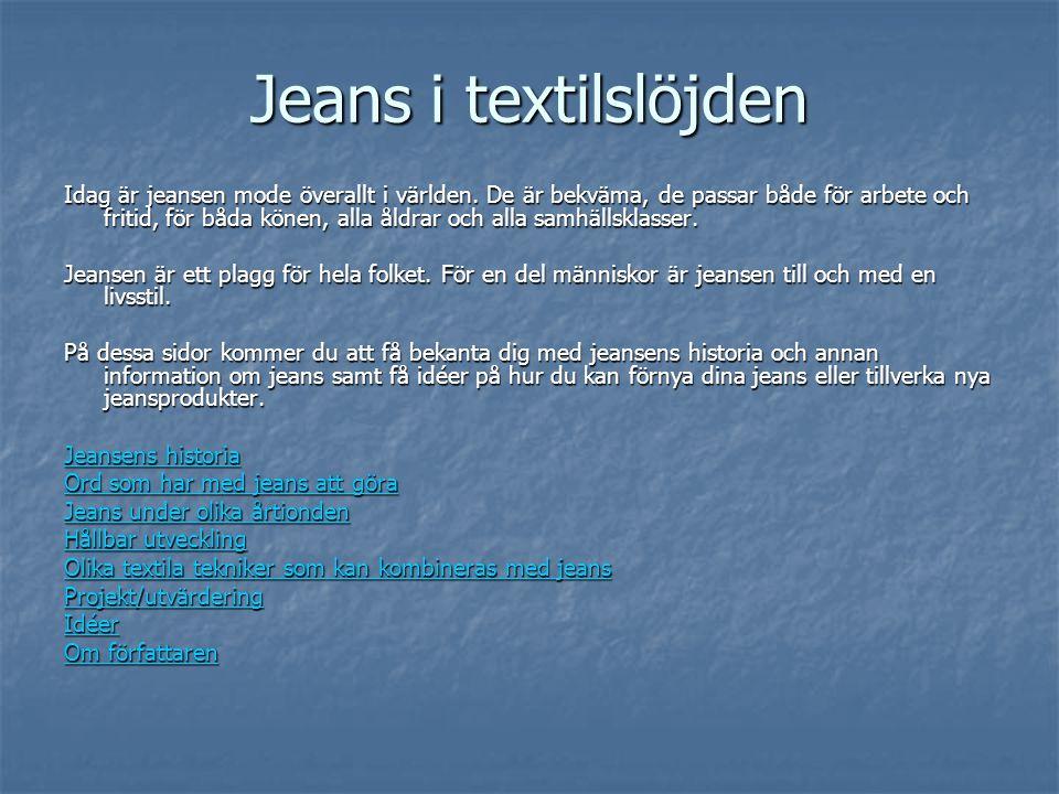 Jeans i textilslöjden