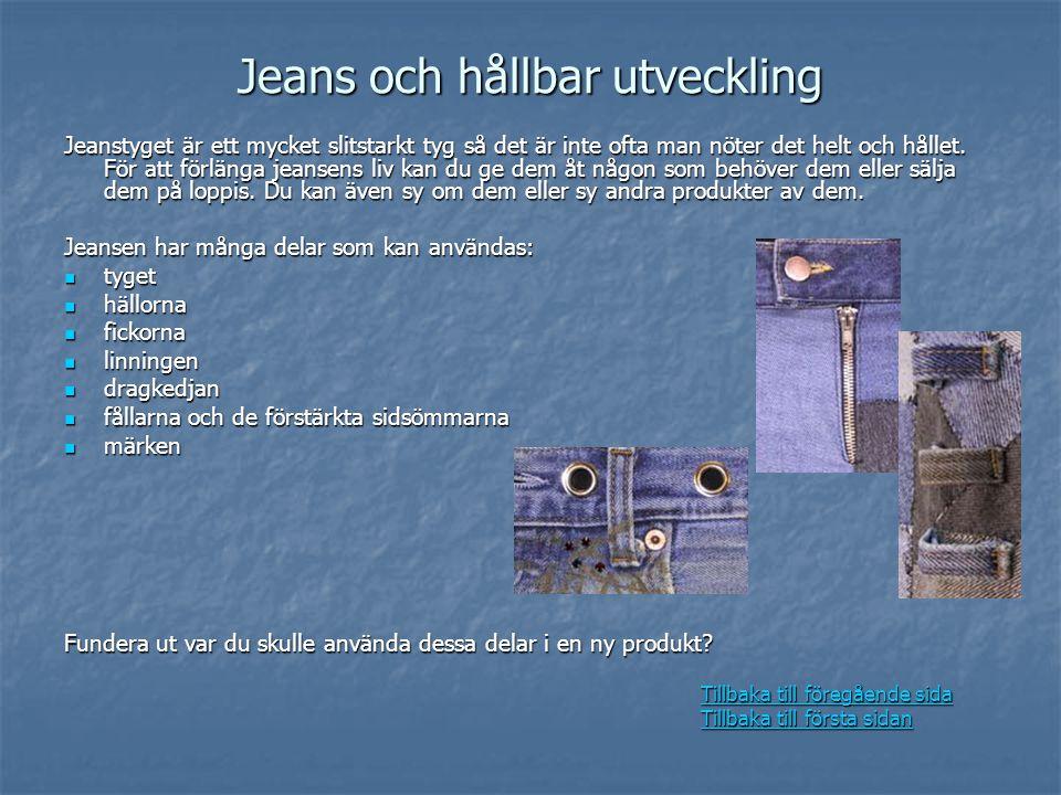 Jeans och hållbar utveckling