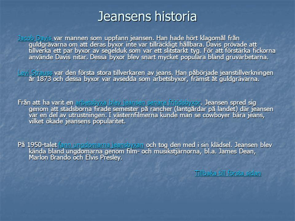Jeansens historia