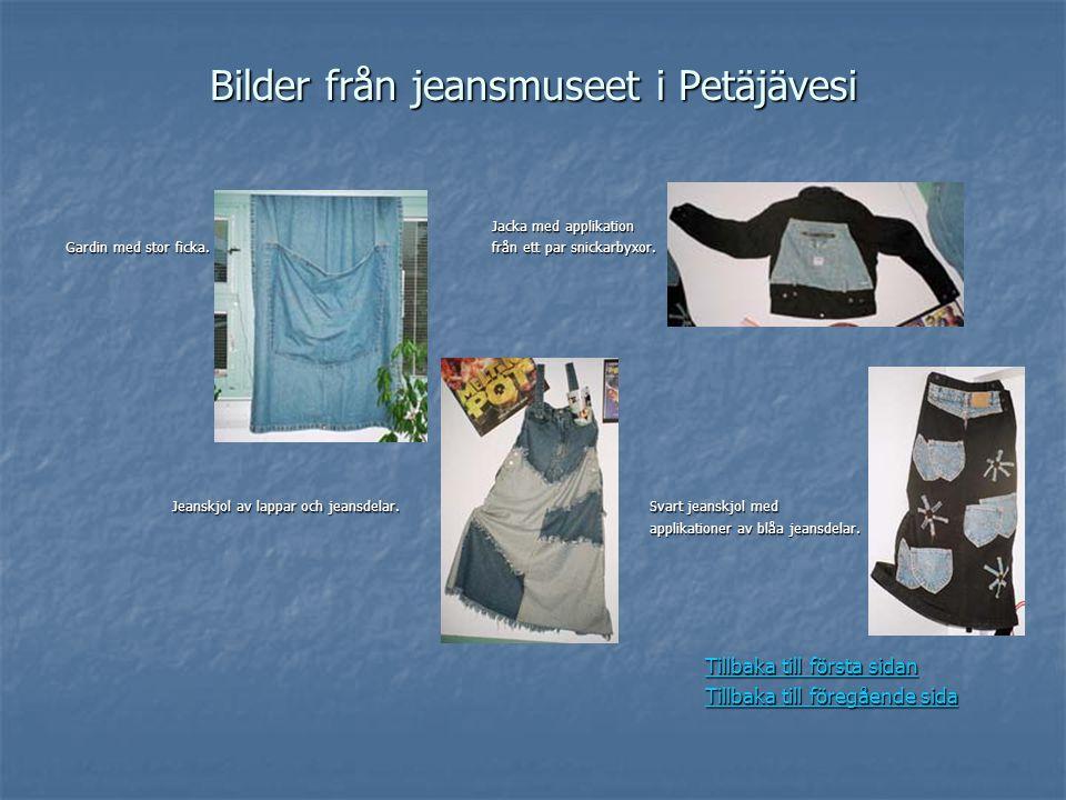 Bilder från jeansmuseet i Petäjävesi