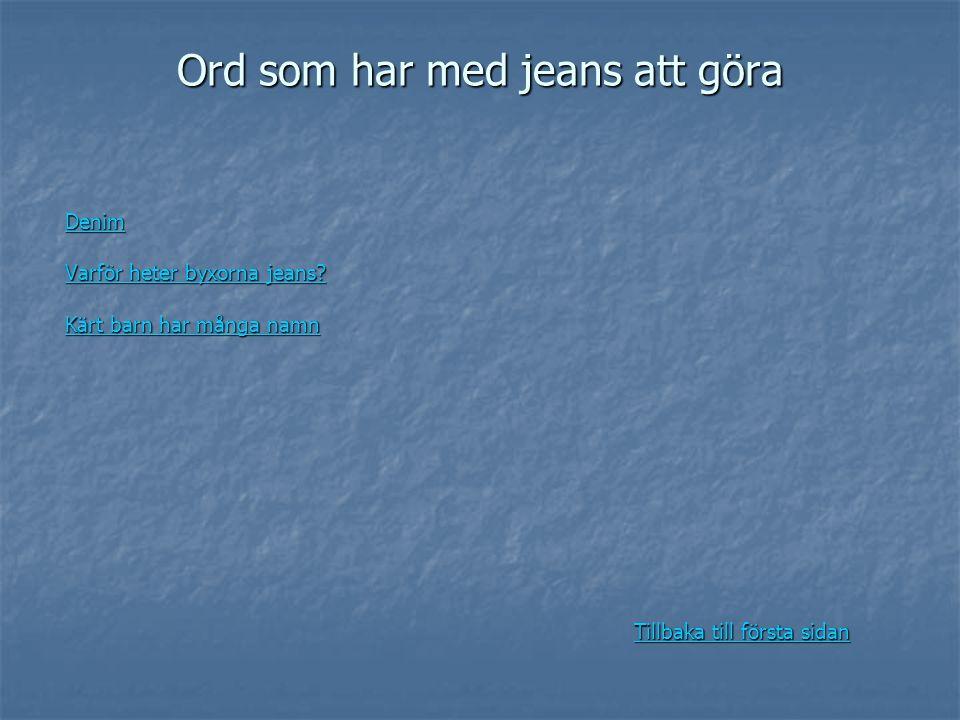 Ord som har med jeans att göra