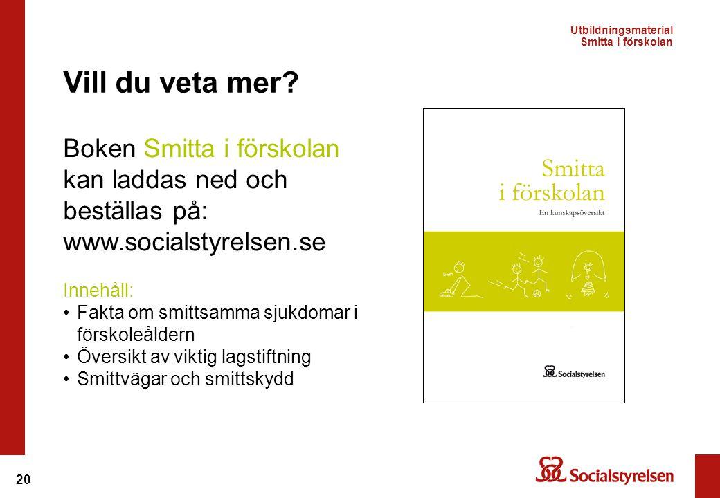 Utbildningsmaterial Smitta i förskolan
