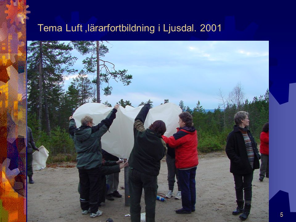 Tema Luft ,lärarfortbildning i Ljusdal. 2001