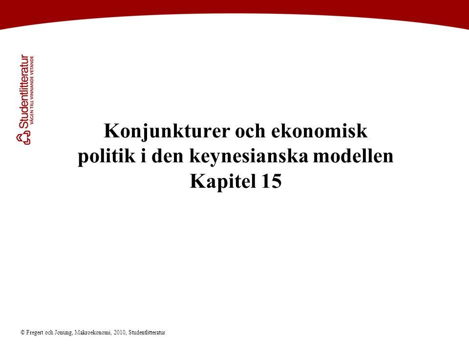 Konjunkturer och ekonomisk politik i den keynesianska modellen Kapitel 15