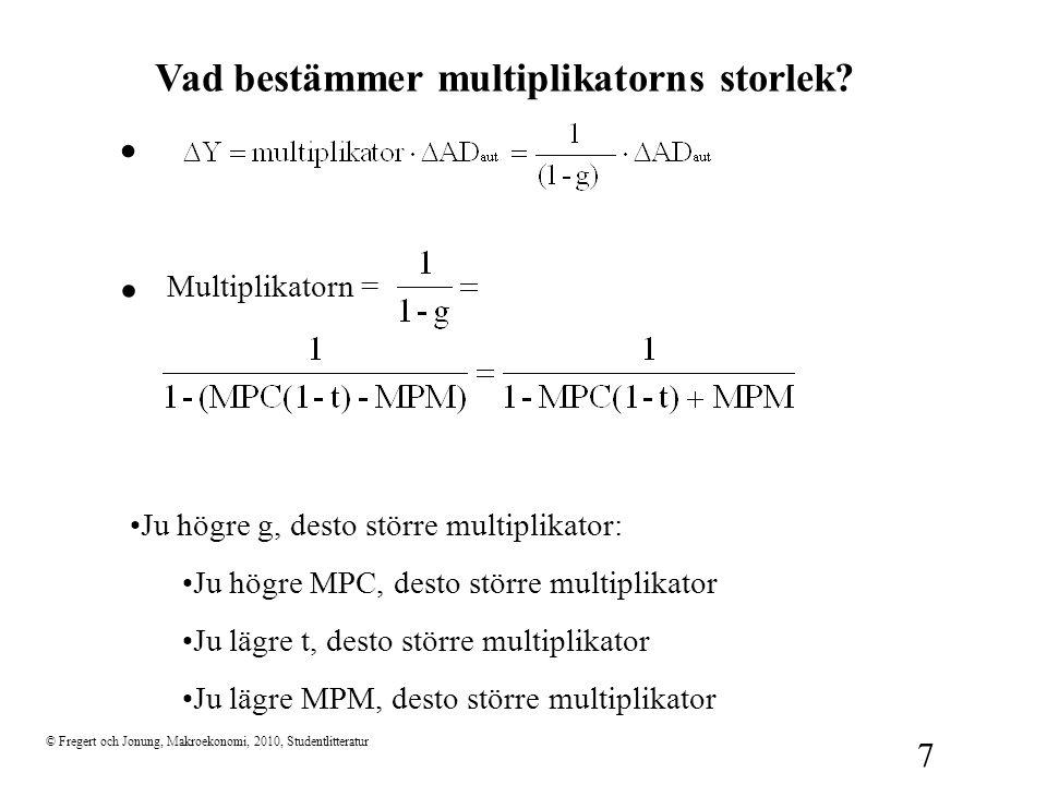 . . Vad bestämmer multiplikatorns storlek Multiplikatorn =