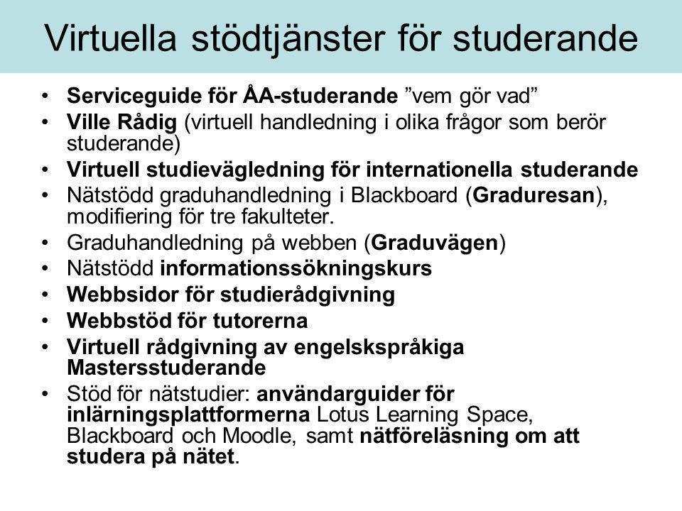 Virtuella stödtjänster för studerande