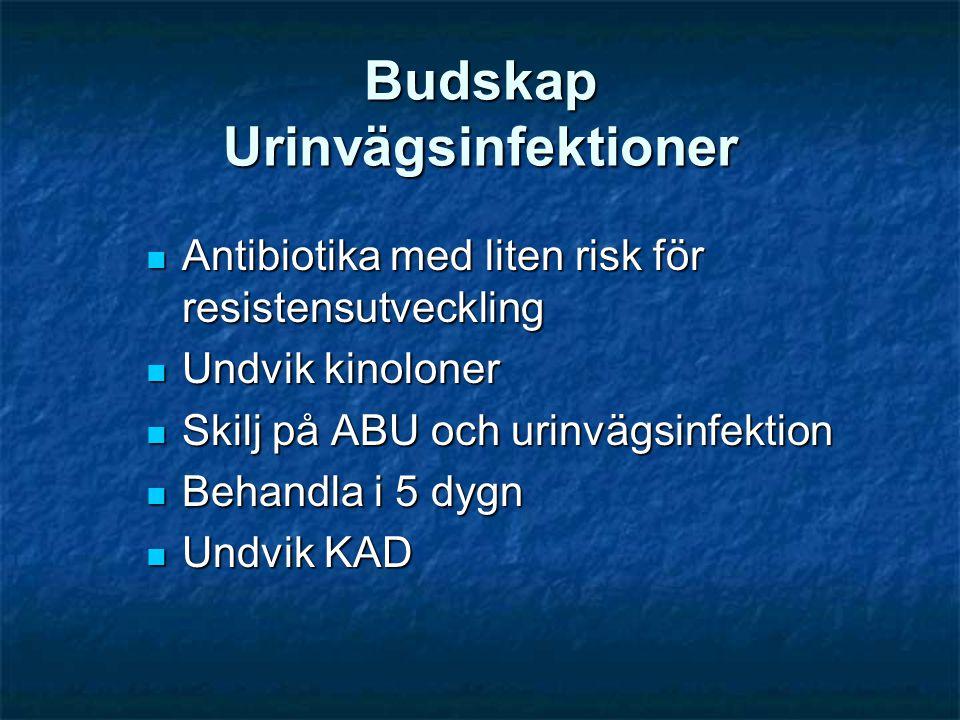 Budskap Urinvägsinfektioner