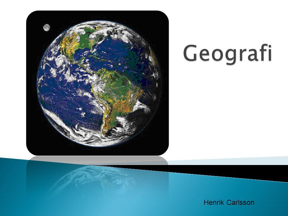 Geografi Henrik Carlsson