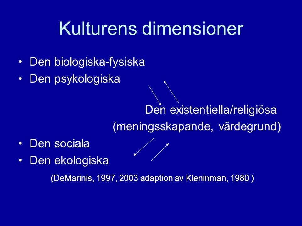 Kulturens dimensioner